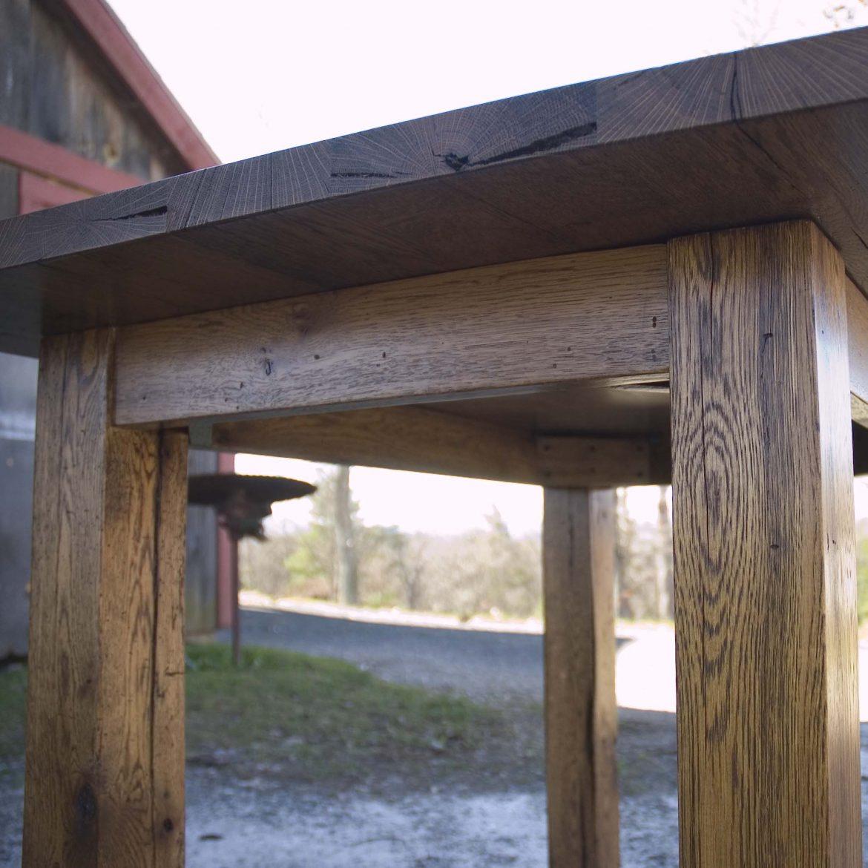 Farmhouse Kitchen Table for Stool Seating