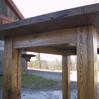 Farmhouse Kitchen Table for Stool Seating