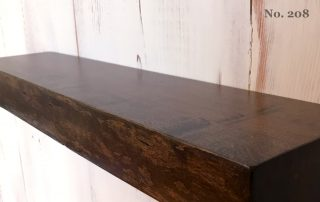 "Set of 2 18"" Live Edge Cherry Floating Shelves, Dark Walnut Finish (No. 208)"