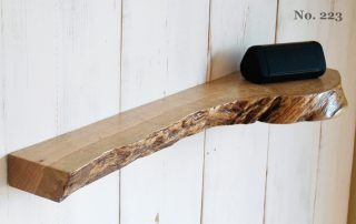 "33"" Live Edge Figured Oak Floating Shelf (Shelf No. 223)"