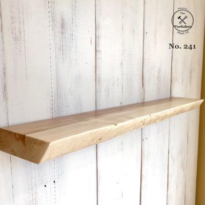 "35"" Maple Live Edge Floating Shelf (Shelf No. 241)"