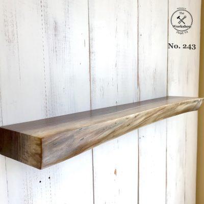 """34"""" Chunky Walnut Live Edge Floating Shelf (Shelf No. 243)"""