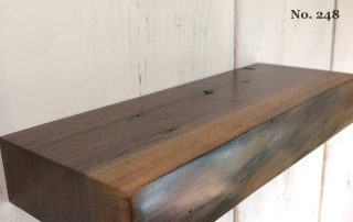 "12"" Walnut Live Edge Floating Shelf (No. 248)"