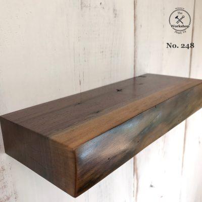 "12"" Walnut Live Edge Floating Shelf (No. 248)"