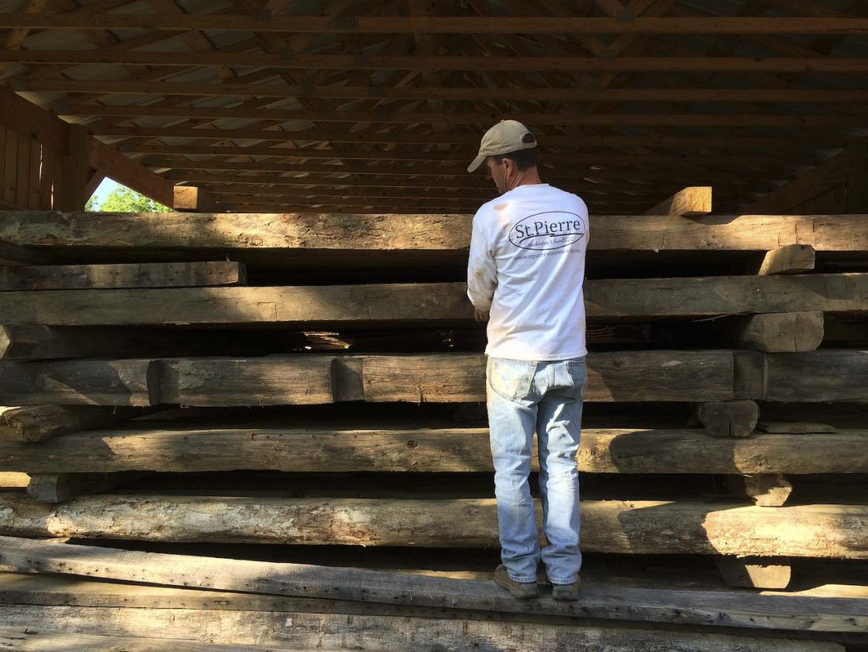 Reclaimed logs from the Old Harman Mill Residence, Floyd, VA, ca. 1790